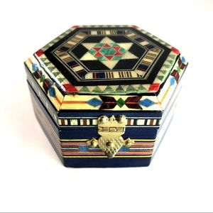 Other - Small exotic handmade wooden inlay box
